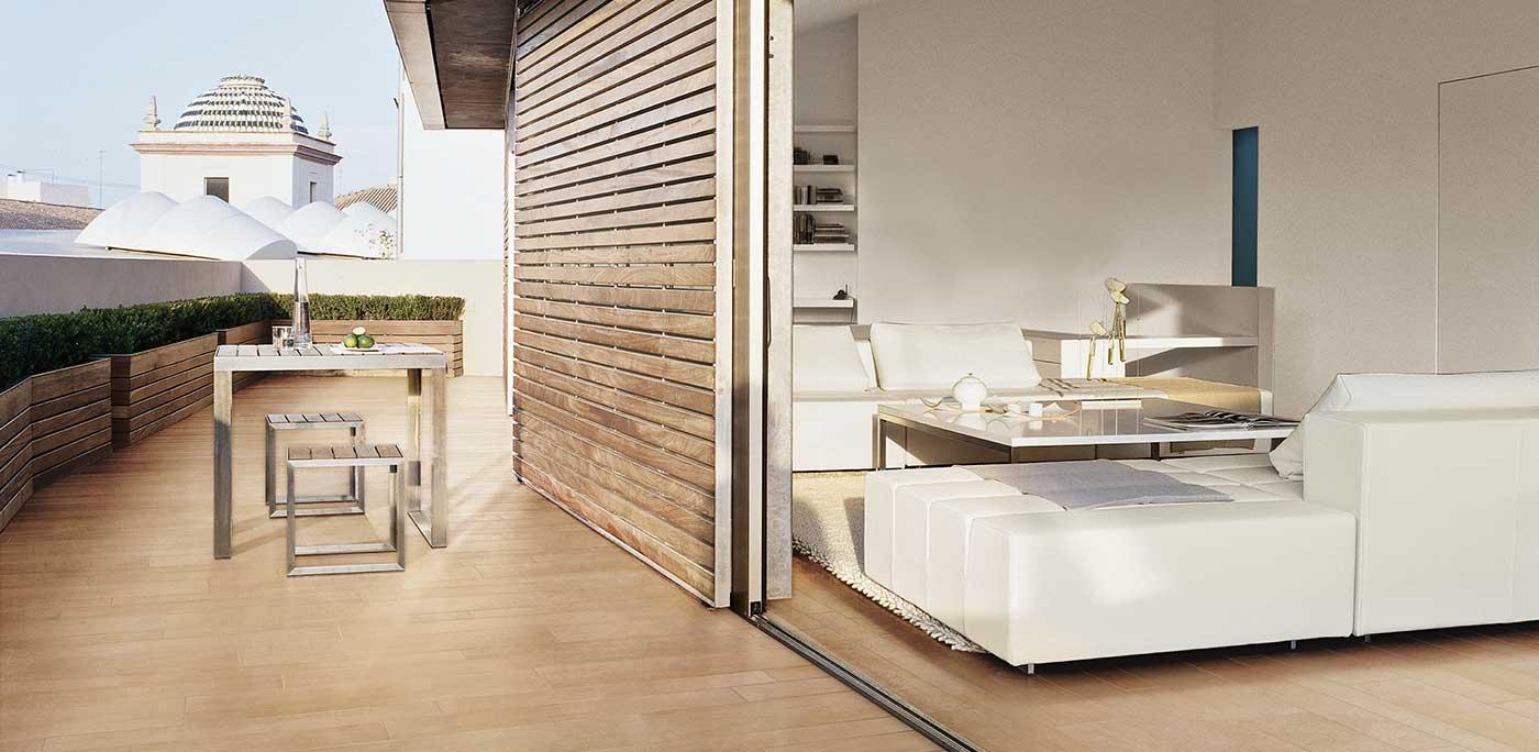 fliesen statt holz auf der terrasse mit fliesen von c s. Black Bedroom Furniture Sets. Home Design Ideas